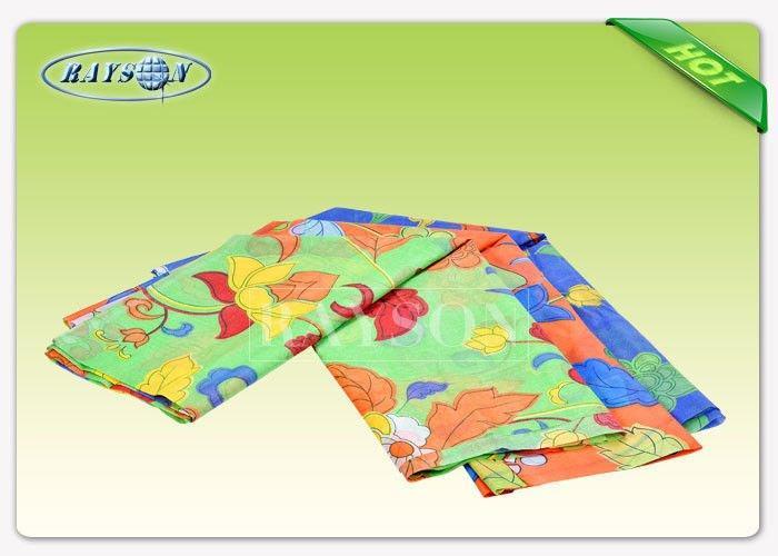 Customized Logo Printing 60gram PP Spunbond Non Woven Material Tear Resistant