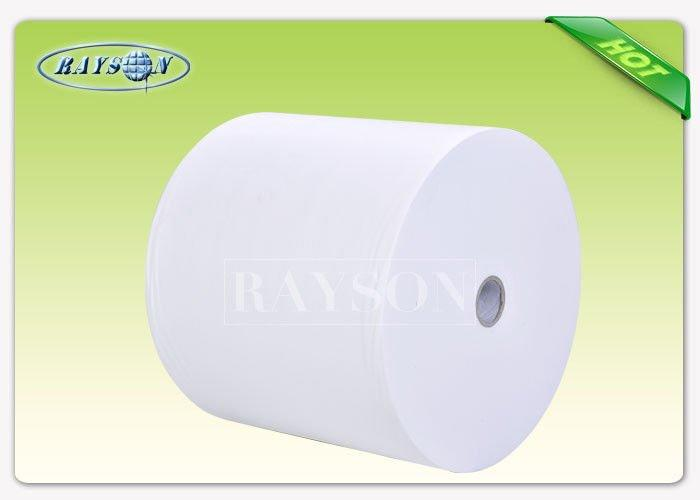 100% Fresh Polypropylene Nonwoven Fabric Embossed / Seasame Pattern 10-150gsm