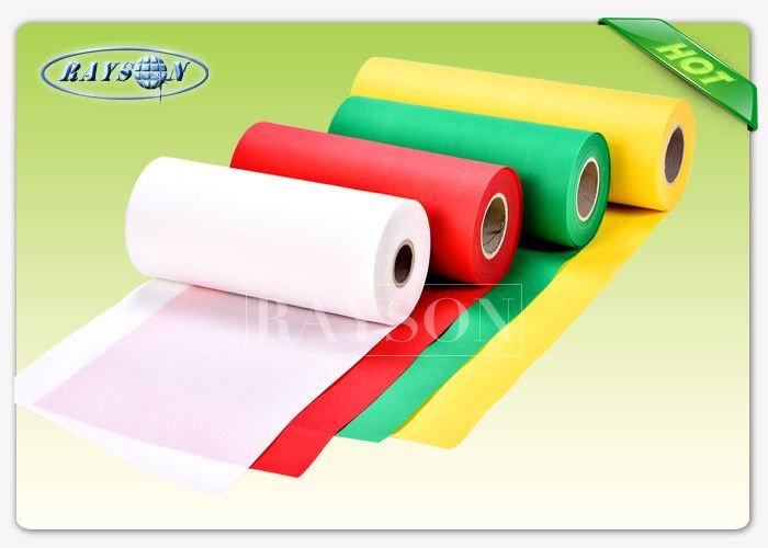 Red Color High Strength PP Spunbond Non Woven Fabric , Shopping Bag Non Woven Cloth