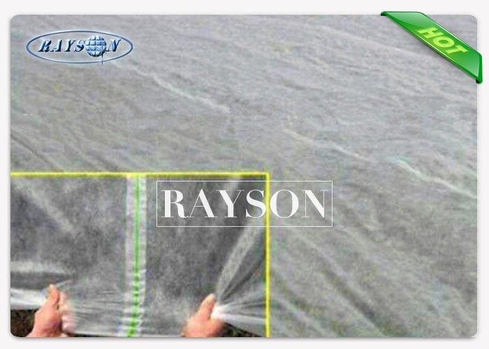 20M Width White Weed Control Fabric With UV - Resistance For Farm Use