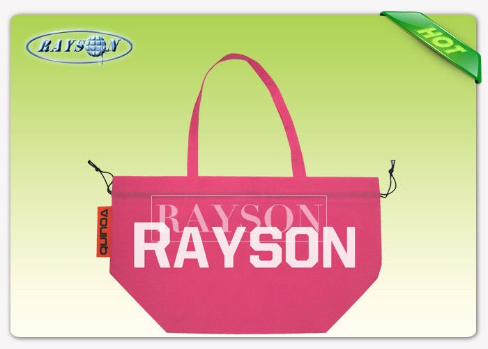 Rayson Non Woven Fabric Colorful Long Handle PP Non Woven Bags For Supermarket / Cloth Store PP Non Woven Bags image11
