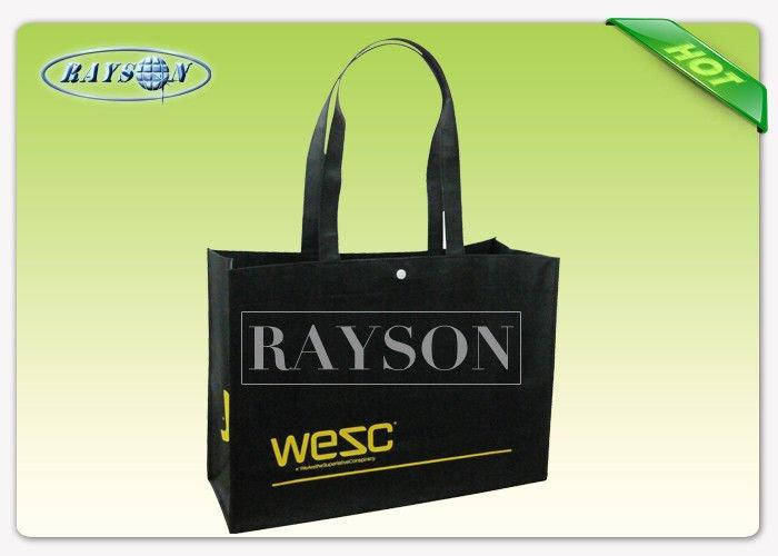 Colorful Long Handle PP Non Woven Bags For Supermarket / Cloth Store