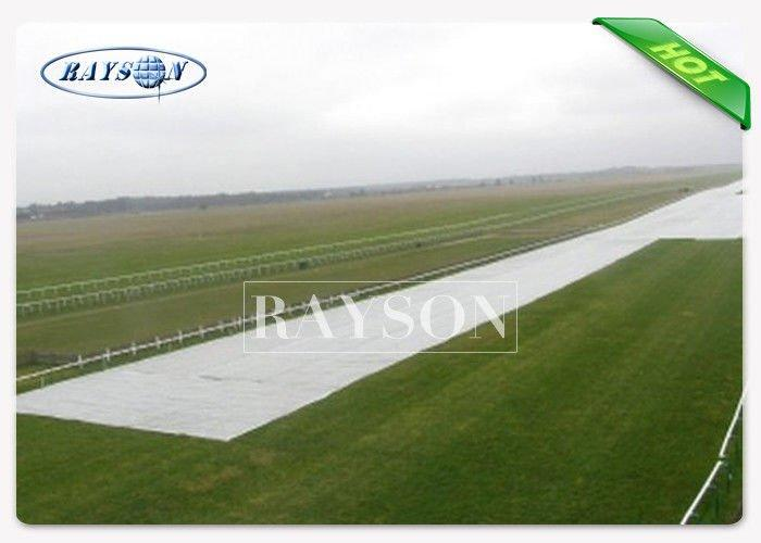 PP Spunbond Non Woven Polypropylene Fabric / Landscape Ground Cover Black / White Color
