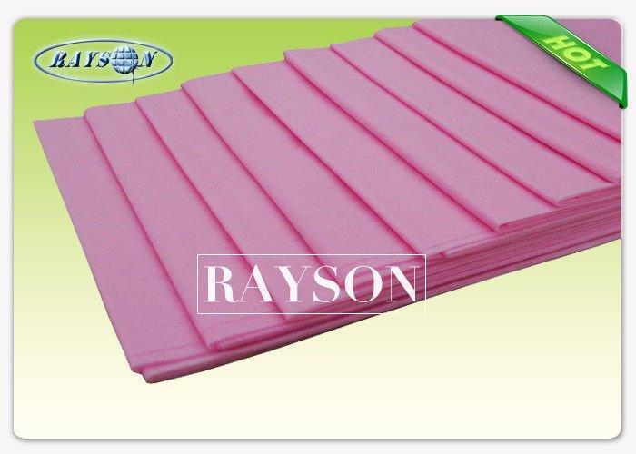 100% Virgin Polypropylene Blue Disposable Bed Sheet For Hospital 25GSM Embossed / Seasame Pattern