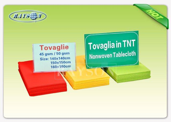 Italian Market Multi Colors Polypropylene Non WovenTablecloth Square Shape TNT Non Woven