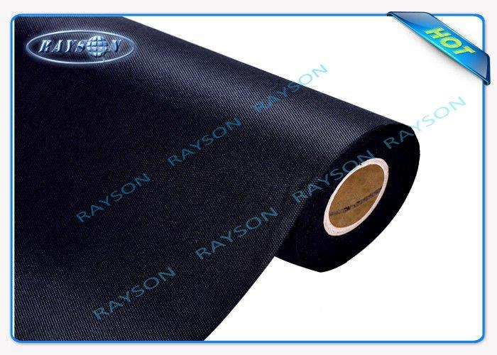 Black 100% Polypropylene Spunbond Non Woven Fabric For Furniture Used
