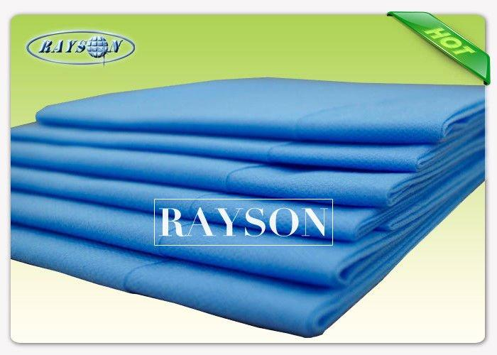 Pink / White / Blue Disposable Bed Sheet Roll / Disposable Bed Cover Cut In Piece