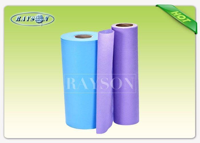 Slipper PVC Dotted Non Woven Anti Slip Fabrics For Making Shoe Cover