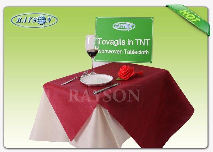 Square / round 60gr non woven tablecloth in tnt eco-friendly / disposable table covers