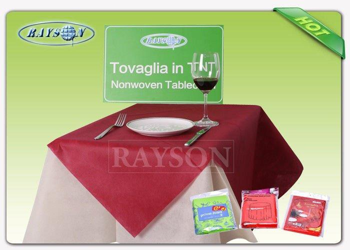 Soft feeling and non toxic SBPP non woven tablecloth in 45gr / 50gr / 60gr