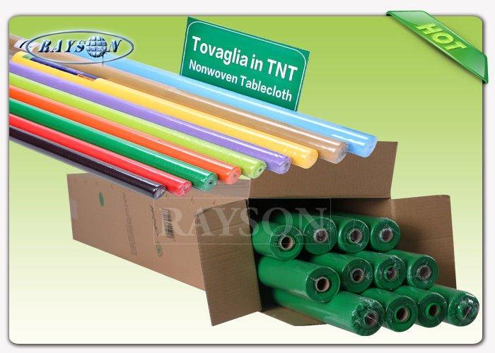 Printing or waterproof PPSB Non Woven Tablecloth in roll packing 1.2m x 25m