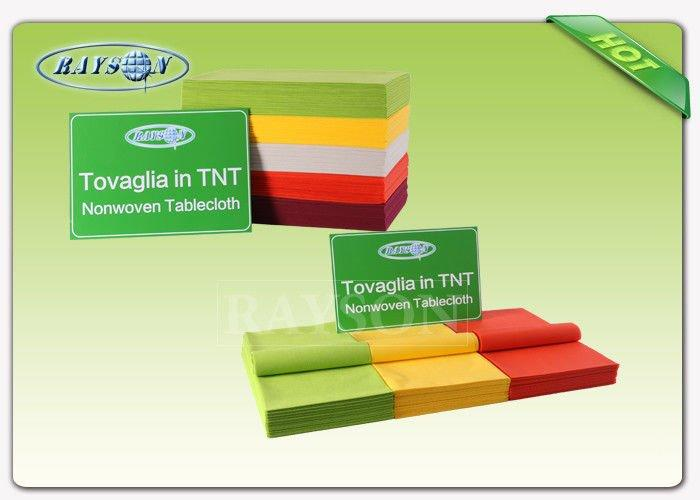 Customized Disposable tnt pp spunbond fabric tablecloths with OEKO cerfiticate