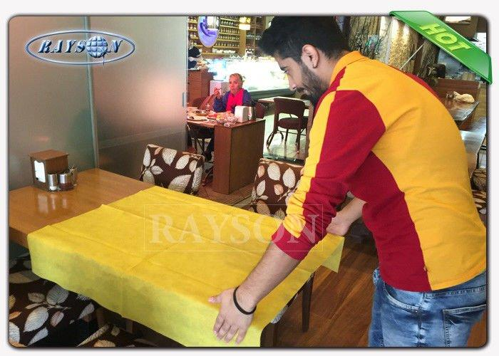 Multi - Color PPSB TNT Non Woven Tablecloth For Wedding / Outdoor Party / Resturant