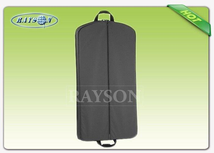 Dust Proof Wedding Dress Garment Bag With Zipper White / Black Color Non Woven Fabric Bags