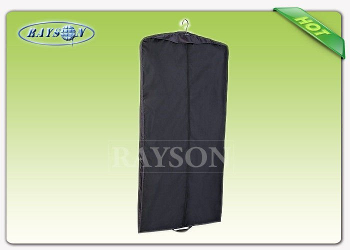 Rayson Non Woven Fabric Dust Proof Wedding Dress Garment Bag With Zipper White / Black Color Non Woven Fabric Bags PP Non Woven Bags image22