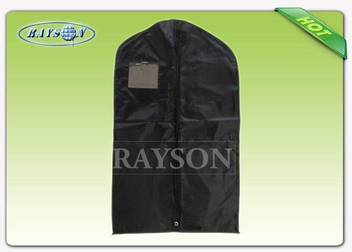 Black Red Garment Packaging Bag With Name Card Window , Non Woven Cloth Bags