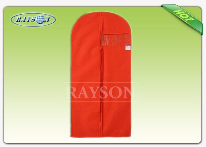 Rayson Non Woven Fabric Black Red Garment Packaging Bag With Name Card Window , Non Woven Cloth Bags PP Non Woven Bags image25