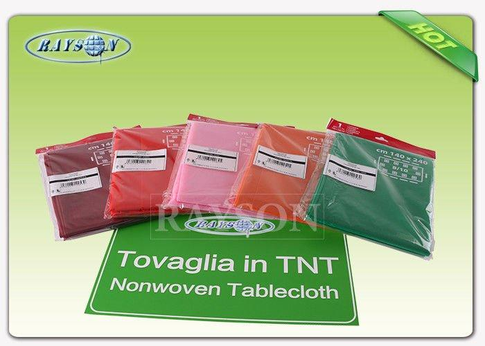 Square Size Waterproof 45g to 70g Tnt Non Woven Table Cover Disposable Tablecloths