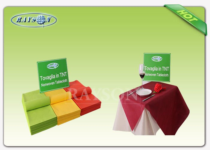 Fancy 45g - 70gsm Round Heat Resistant Colorful Disposable Table Cloth For Dining Used