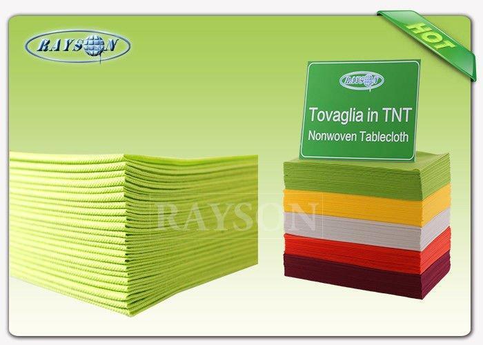 Customized Wedding Docaration Colorful 100% Polypropylene Non Woven Fabric Table Cloth For Wedding