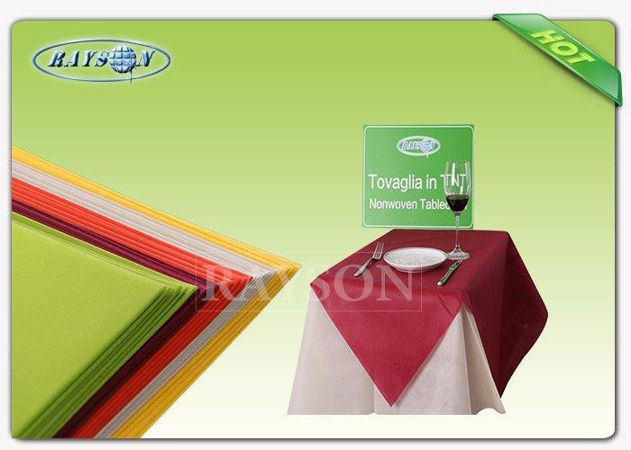 Customized Wedding Docaration Colorful 100% Polypropylene Non Woven Fabric Table Cloth For Wedding