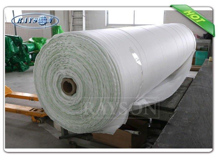 Big Roll Nonwoven Garden Weed Control Fabric Biodegradable landscape Fabric Pack In Green Plastic Bag
