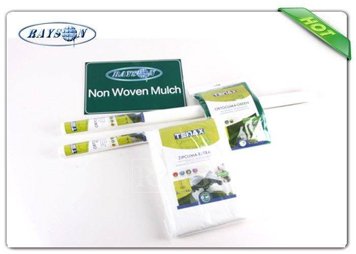 Single Packing Nonwoven White Weed Control Fabric , Weed Stop PPSB Non Woven Fabric For Garden / Farm