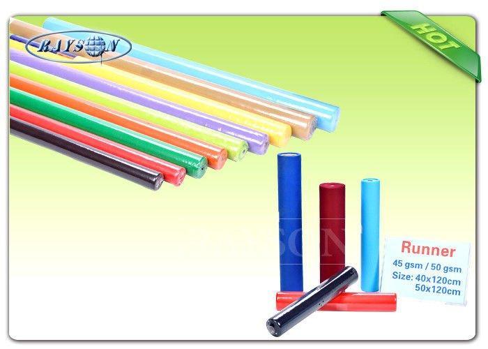 2CM / 4CM Paper Core Non Woven Tablecloth / TNT Fabric Roll 45G / 50G / 60G / 70G