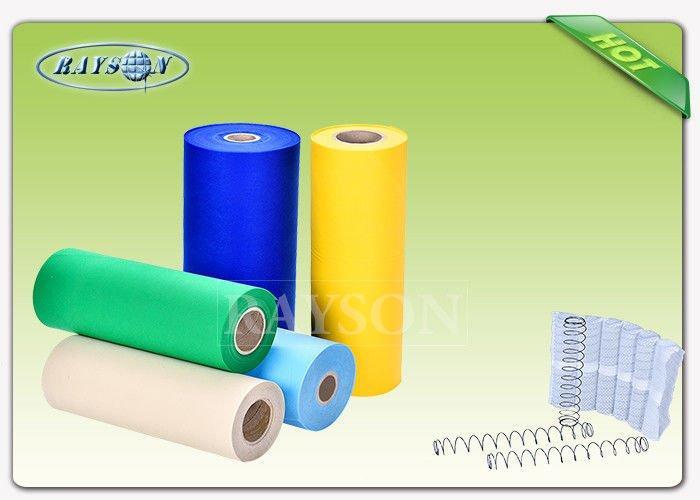 Breathable Grey Color  Slipper PVC Dot Anti Slip PP Spunbond Non Woven Fabric For Mattress