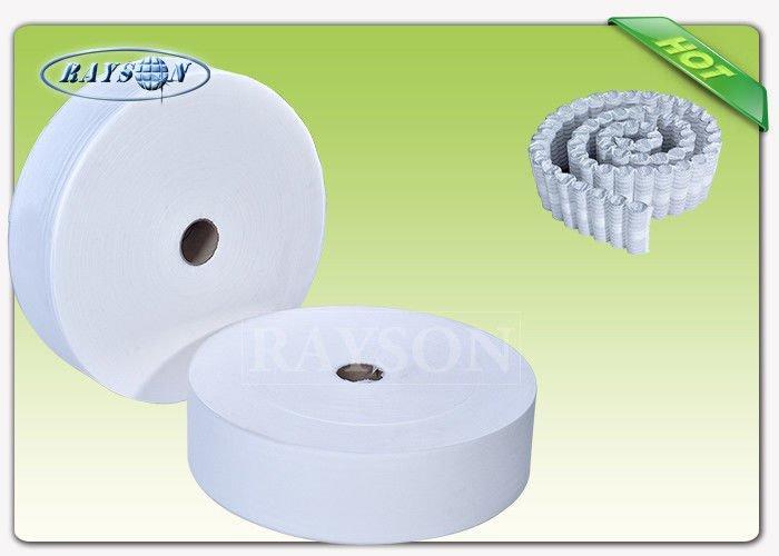 40-63 cm Width White Color PP Non Woven Spunbond Used For Europe  Market Pocket Spring