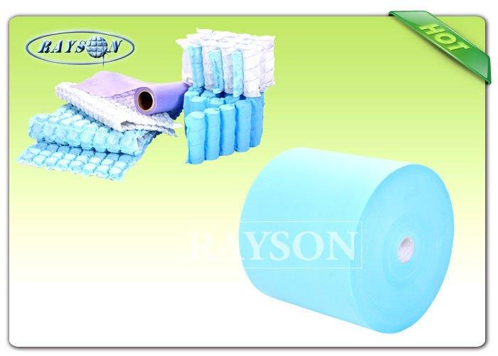 70Gr / 75Gr Soft High Strength PP Spunbond Non Woven Fabric For Sofa Packing / Pocket Spring Cover