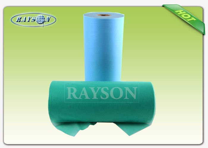 Anti bacterial Medical Consumable Disposable Non Woven Bed Sheet Roll For Europe Diaper Market