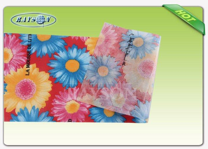 100% PP Spunbond Non Woven Fabric For Shopping Bags with 75gsm Full Color Printing