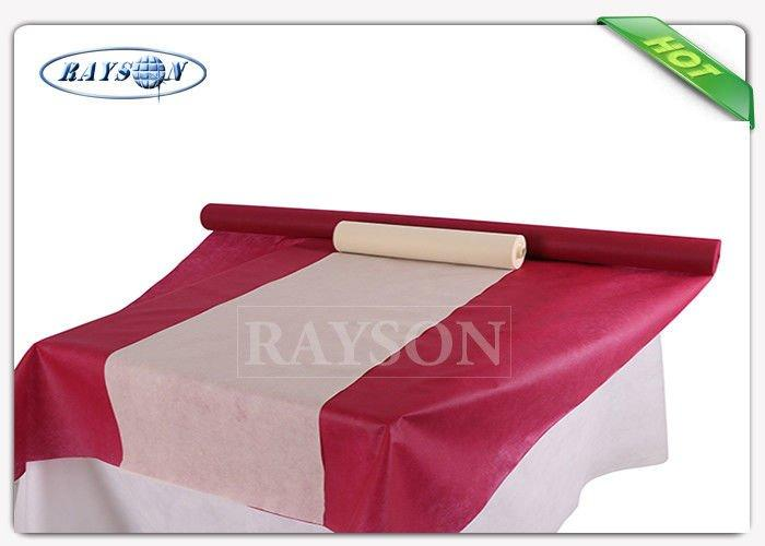Fancy Anti bacterial 1x1m Non Slip Non Woven Tablecloth White TNT Tablecloth For Wedding