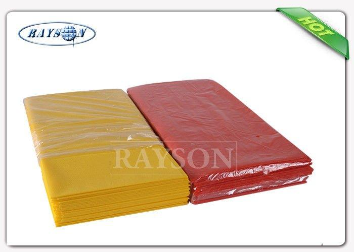 Disposable Non Woven Tablecloth Colorful Heat Resistant TNT Table Cover For Dining Used