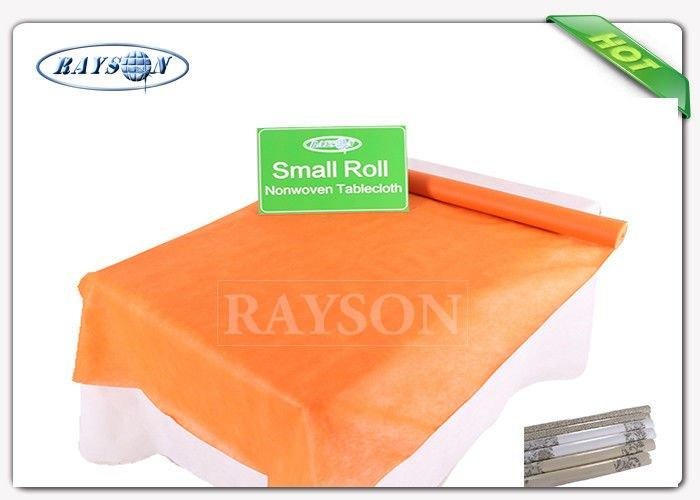 Various Color Golden Printing Decoration PP Non Woven Tablecloth / Table Cover