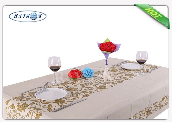 Full Size Printing 40g To 60g Europe Market Non Woven Tnt Table Cloth For Banquet Used
