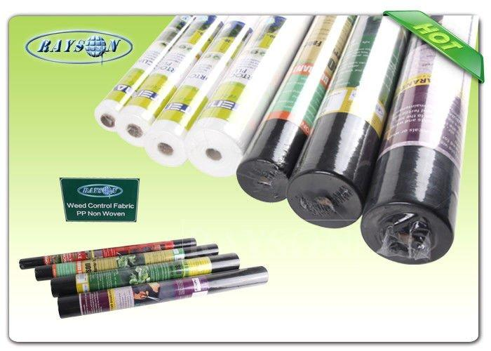 Small Roll Light Weight Garden Weed Control Fabric / Non Woven Mulch For Covering Crops