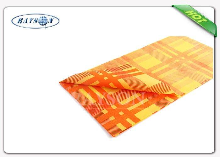Fancy 38-75 Gsm Weight Colorful Printing Square Tnt Table Cover Exported to Italy