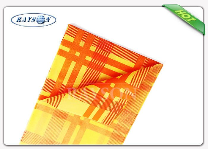 Square Heat Resistant Colored Dayed 45gsm Non Woven Cloth Used For Dinning