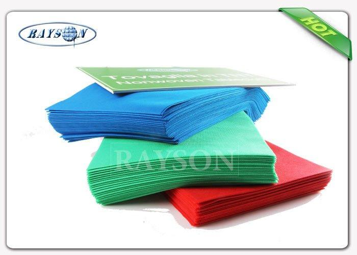 Eco-friendly Disposable 1m*1m 100% Polypropylene Spunbond Non Woven Table Cloth Runner Made In China