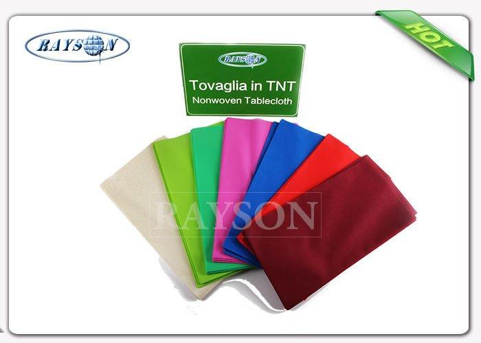 Various Colors Fancy Antibacterial Heat Resistant Round  70gsm Table Cover With With of 1.2 m